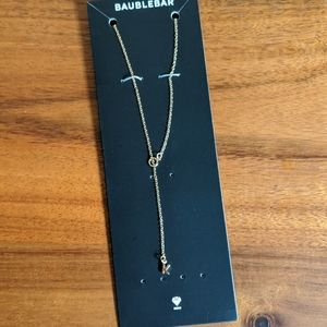 NWT BaubleBar Say it All Necklace K